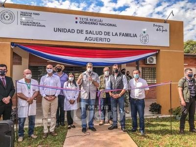 Otra obra más de beneficio inauguró Marito  en Amambay