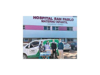 BYD llega hasta el Hospital San Pablo con  donación de mascarillas