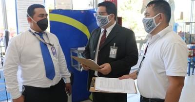 Fiscalizan cumplimiento de protocolo sanitario en comercios del interior