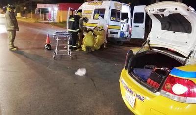 Motociclista resulta herido en accidente • Luque Noticias