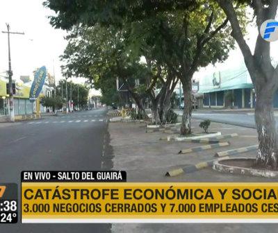 Declaran catástrofe económica y social en Salto del Guairá