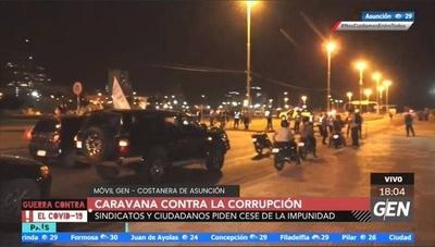 HOY / Sindicatos y cuidadanos realizan una caravana en la Costanera contra la corrupción e impunidad