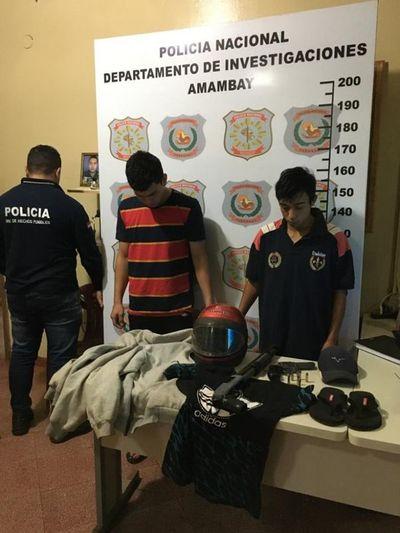 Supuestos asaltantes fueron detenidos