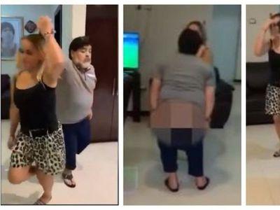 Maradona mostró baile y otra cosa