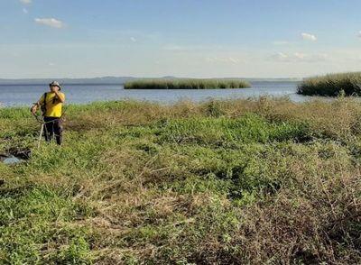 Comienzan a colocar hoy las geobolsas en lago Ypacaraí