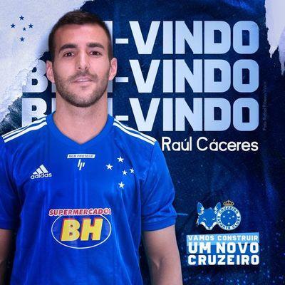 El Cruzeiro presentó al nuevo refuerzo: Raúl Cáceres