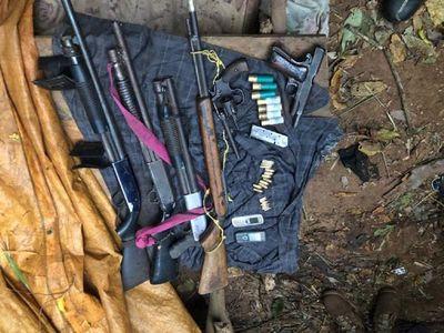 Hallan armas de fuego en busca de sospechosos de un crimen en Guairá