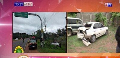 Accidente fatal en Areguá se cobra la vida de madre e hijo