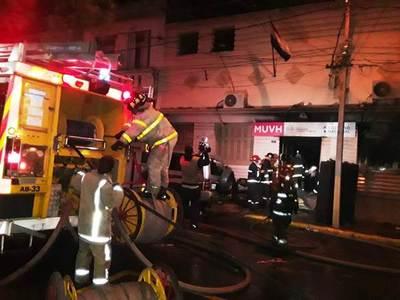 Incendio en oficina del MUVH • Luque Noticias