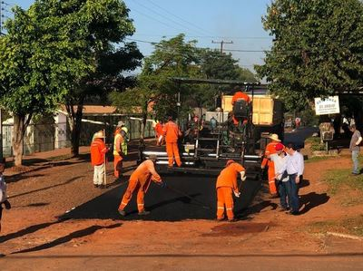 ITAIPU inicia obras de pavimentación asfáltica en J. Eulogio Estigarribia
