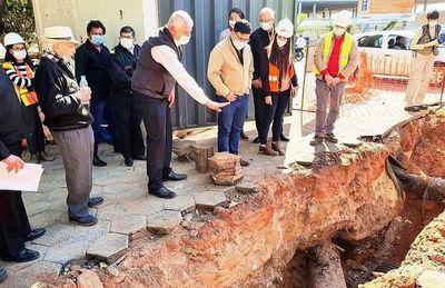 Durante excavación habrían hallado buques de la era de Carlos A. López