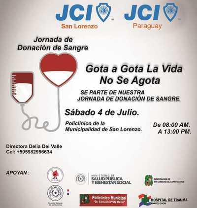 Jornada de donación de sangre en el Policlínico Municipal