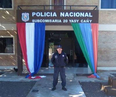 Policías deben aislarse tras confirmarse un caso positivo dentro de la Subcomisaría de Yasy Cañy