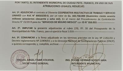 CIUDADANIA de Franco PAGA seguro médico VIP a 46 funcionarios MUNICIPALES
