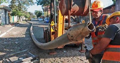 Obras de red de desagüe cloacal en San Lorenzo cerca de finalizarse