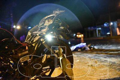 Motociclista murió tras ser chocado por vehículo que se dio a la fuga
