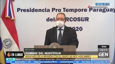 HOY / Cumbre del MERCOSUR: Resultados de la reunión con el grupo AD HOC azucarero