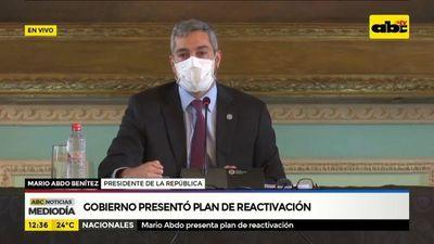 Gobierno presentó plan de reactivación económica