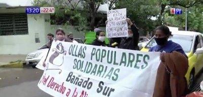 Emergencia Sanitaria: Ciudadanos protestan por falta de comida