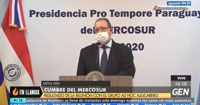 Mercosur: viceministro comparó a Paraguay con el club 3 de Febrero en producción de azúcar
