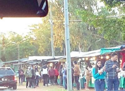 Aclaran que aglomeración de personas no fue en la Expo Frutilla de Areguá