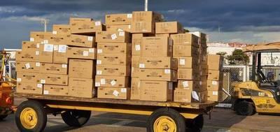 Tres meses después del estallido llegaron las 25 toneladas de insumos de salud