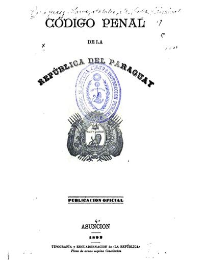 """Código penal """"akurepado"""" 1880-1892"""