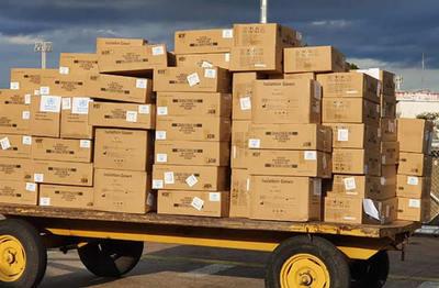 ¡Horama! Llegaron 25 toneladas de equipos de protección