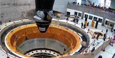 Instalan nueva turbina de 583 toneladas en la Central Hidroeléctrica de Yacyretá