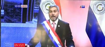 VIVO. Mario Abdo Benítez presenta su segundo informe de gestión