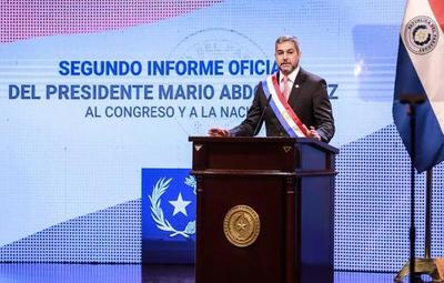 Mario Abdo realizó informe de gestión de manera virtual