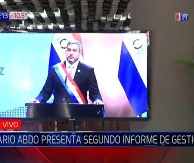 Mario Abdo presentó segundo informe de gestión al Congreso