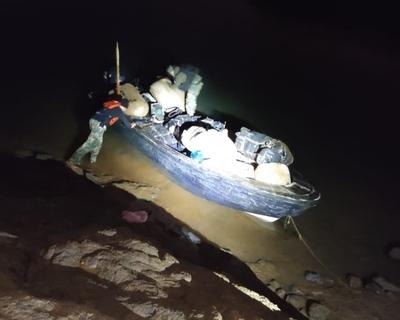 Incautan mercaderías a orillas del río Paraná