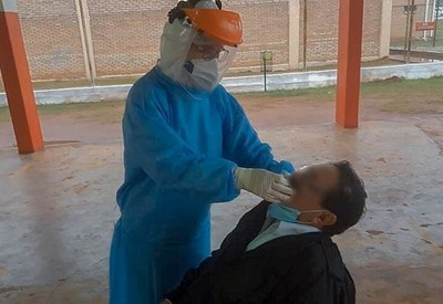 Covid-19: Realizan testeos aleatorios en la Penitenciaria Regional de Misiones