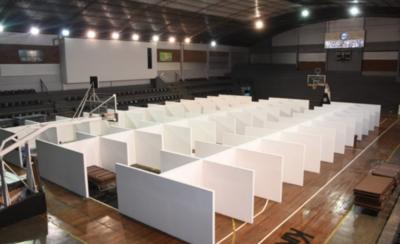 HOY / Olimpia convierte polideportivo en un espacio para brindar abrigo