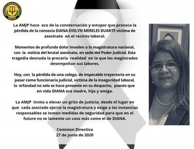 Magistrados repudian asesinato de jueza y ya elaboran protocolo de seguridad