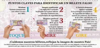 BCP publica material sobre como reconocer billetes falsos