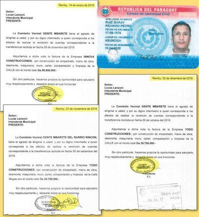 Detectan en Ñemby varios documentos con firmas falsas