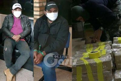 Dos detenidos con una carga de marihuana en  zona de Pedro Juan