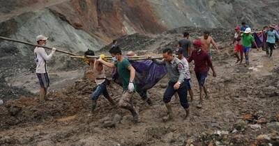 Más de 120 muertos en un deslizamiento de terreno en minas de jade en Birmania