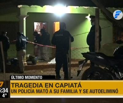 Policía asesinó a su familia y luego se suicidó