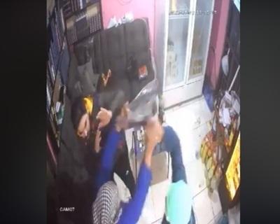 Violento asalto en bodega