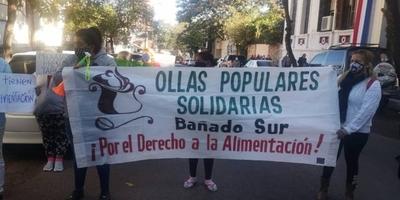 HOY / Bañadenses protestan: coquito duro, un pack de leche para 15 días y otras quejas