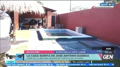 HOY / Allanan la casa quinta de José Antonio Balboa Benítez, sindicado como líder de la mayor organización de distribución de cocaína