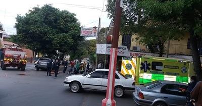 Camioneta atropelló a un motociclista