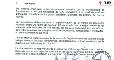 Contraloría califica sistema de control deficiente y muchas dudas en la gestión municipal en Encarnación