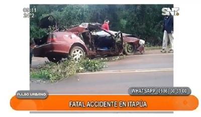 Dos personas fallecieron en fatal accidente en Itapúa