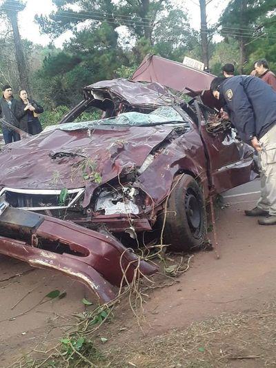 Dos muertos en accidente rutero en Obligado