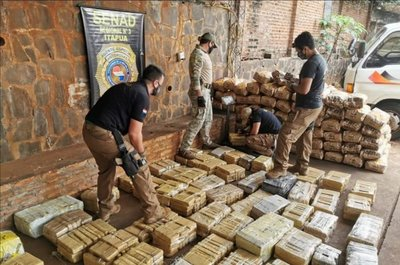 Itapúa: Confiscan más de 700 kilos de marihuana