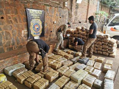 Senad incauta 729 kilos de marihuana en Itapúa